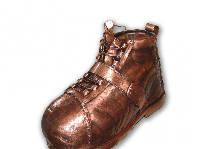Insegna negozio calzature Scarpone tridimensionale