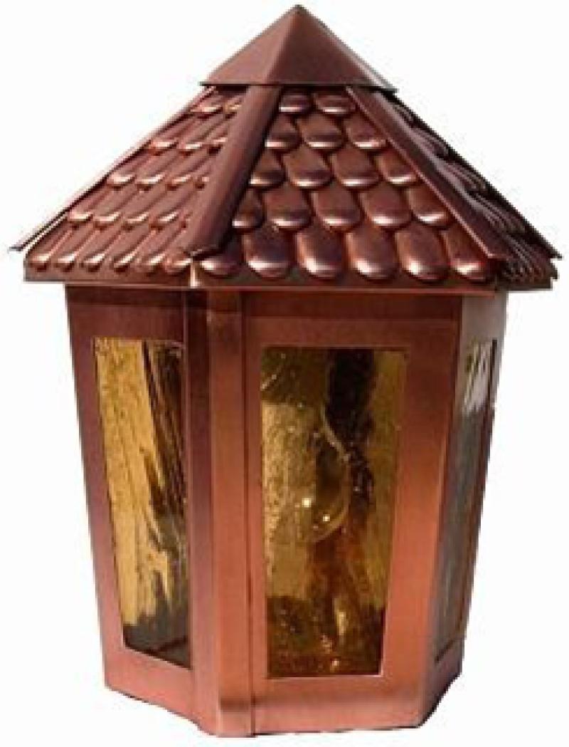 decorazioni lampade in rame da esterno realizzata a mano html